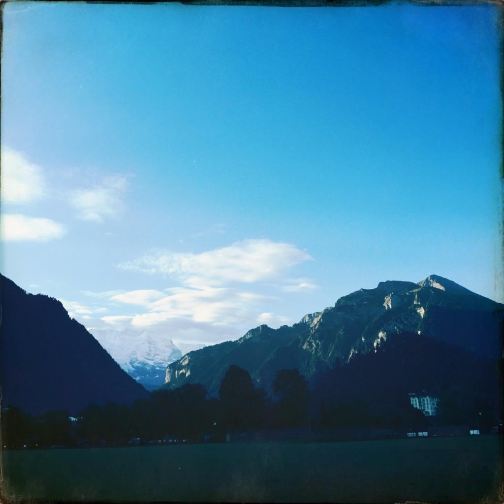 Blick vom Startgelände Richtung Jungfrau